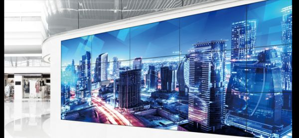 Panasonic Videowall mit TH-55LFV8 Displays